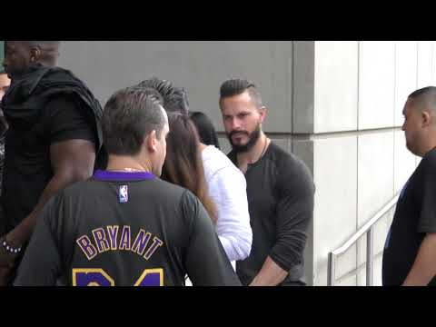 Floyd Mayweather gets denied entrance to the game at Lakers vs Cavs Game at Staples Center in Los An