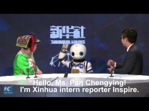 "Xinhua's interactive ""robot reporter"" makes debut"