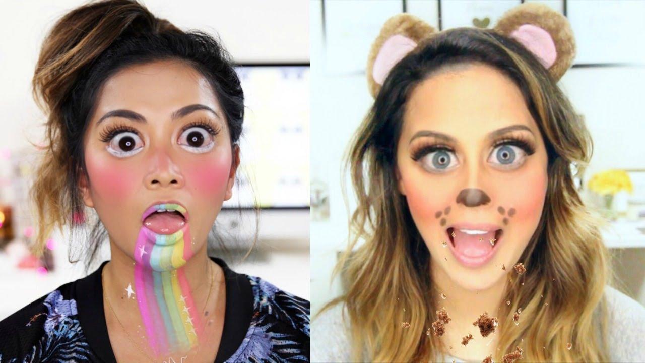 Snapchat Filters Halloween Makeup Tutorial - YouTube