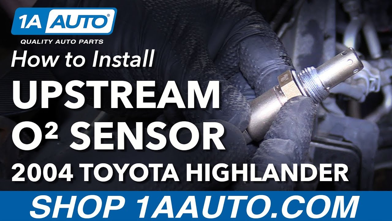 how to replace upstream o2 oxygen sensor 04 07 toyota highlander l4how to replace upstream o2 oxygen sensor 04 07 toyota highlander l4 2 4l