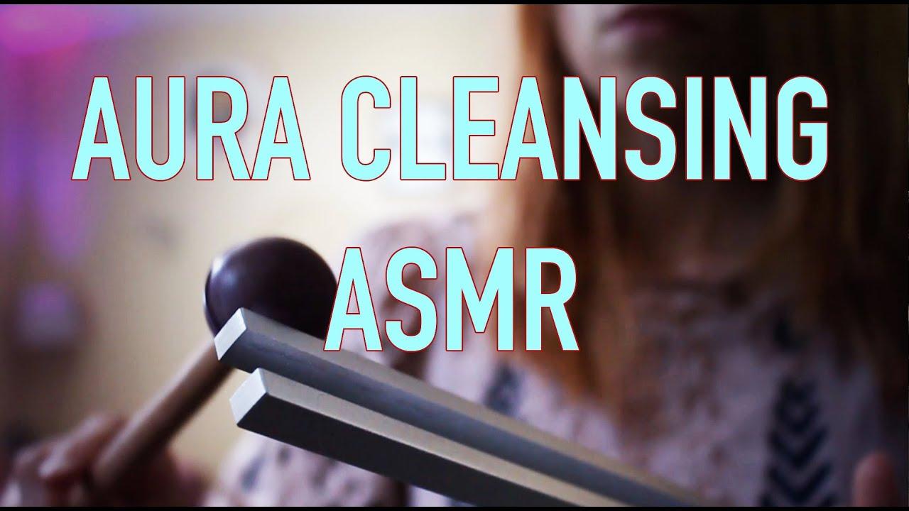 RELAXING AURA CLEANSING ASMR, TUNING FORK, SINGING BOWL, HAND MOVEMENTS,  SMOKE/SMUDGE, SELENITE