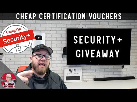 #ad #sponsored Cheap I.T. Certification Vouchers + CompTIA Security+ Giveaway