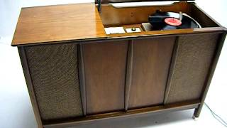 Vintage Mid Century Danish Modern Stereo Console Bluetooth Ipod Iphone Android Record Player