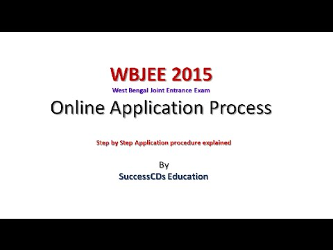 West Bengal WBJEE 2015 online application process Mp3