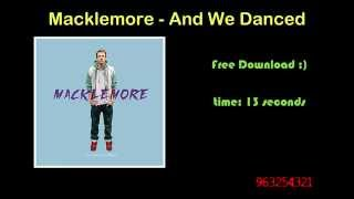 Call Me Maybe, Danza Kuduro, My Love, And We Danced [Free Ringtones | Download]