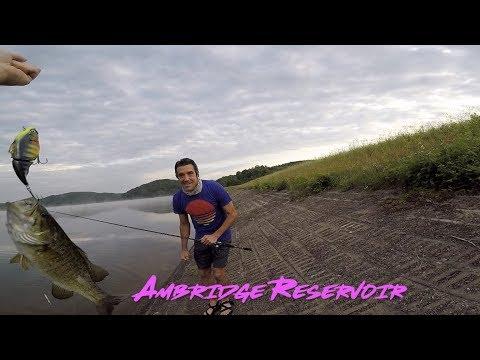 Ambridge Reservoir Bass Fishing Pittsburgh Pennsylvania Big Baits