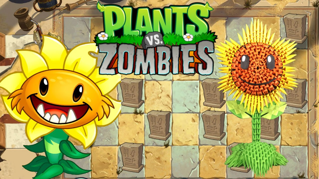 3D Origami Sunflower Tutorial From Plants Vs Zombies Game
