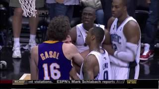 Pietrus' flagrant foul on Gasol [HD] - 061109: Orlando/Los Angeles