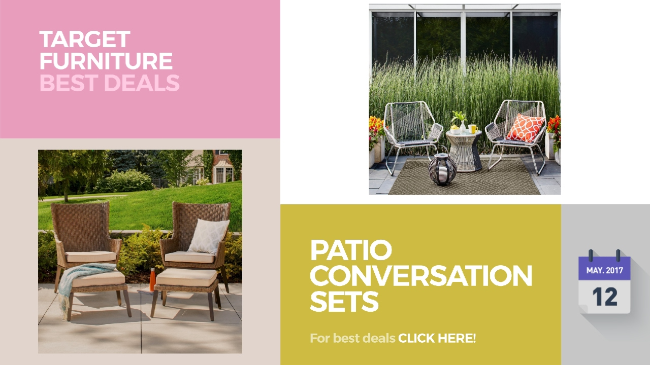 Patio conversation sets clearance target furniture best for Best deals on patio furniture sets