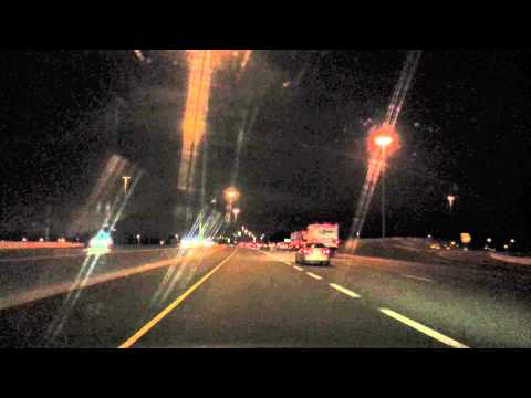 QEW Mississauga towards Hamilton  at night)