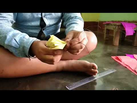 How to make a flower with kite paper