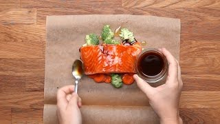 Parchment Baked Salmon 4 Ways
