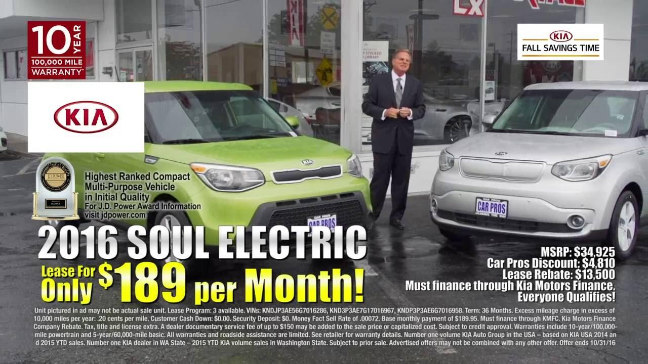 2017 Kia Soul Ev 189 Month Lease Car Pros Tacoma