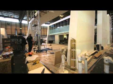 Samsung Exhibition Build - Time Lapse