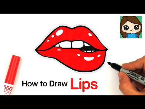 How To Draw Lips Easy Youtube