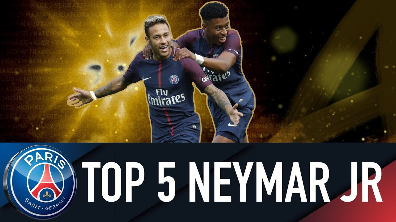 Top 5 Neymar Jr Ses 5 Plus Beaux Buts Du Quadruple 2017 2018 Youtube