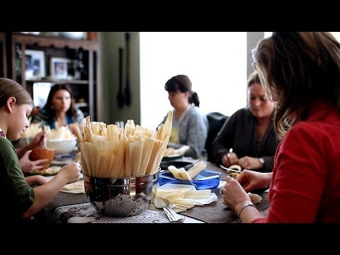 How to Make Tamales (Como Hacer Tamales) + Tamalada (Tamal-Making Party) | Muy Bueno