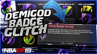 DEMIGOD BADGE GLITCH NBA2K19 - MAX BADGES in 10 MINUTES