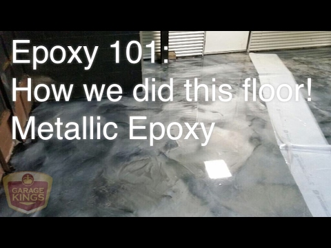 Epoxy 101 Silver On Black Floor