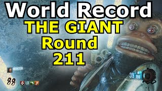 THE GIANT Round 211 World Record  error/reset black ops 3 zombies ps4