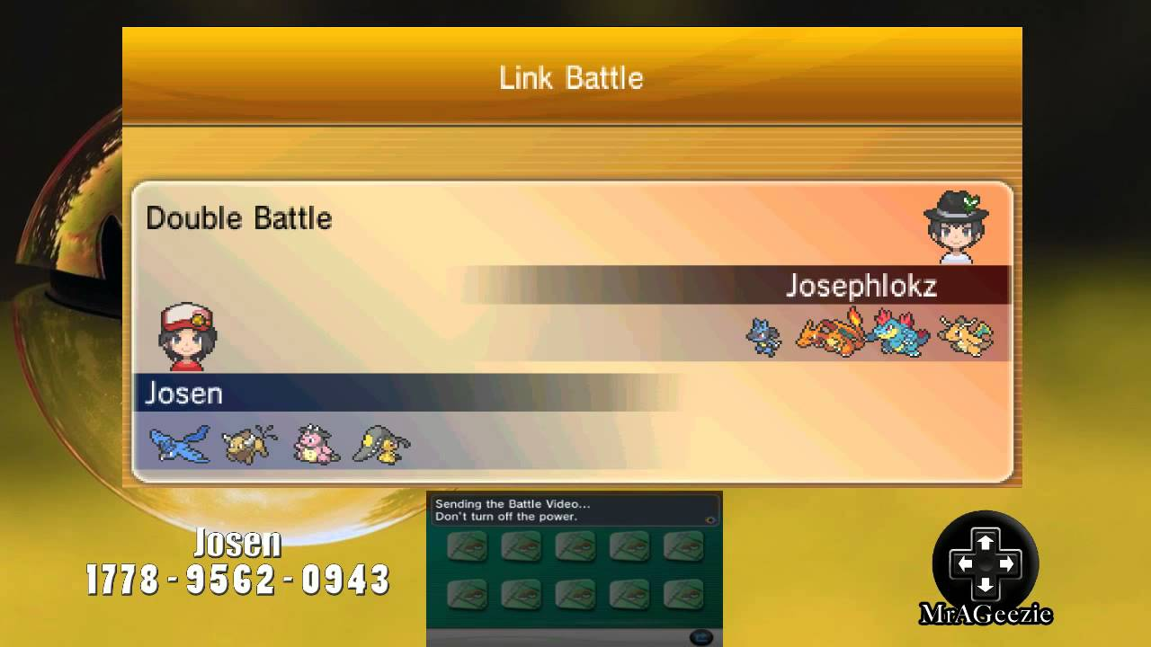 Pokemon X And Y How To Upload A Battle Video Youtube
