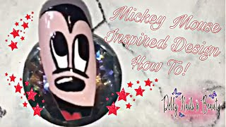 Mickey Mouse Disney Inspired Nail Art Tutorial & How To