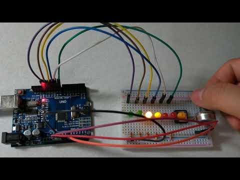 【Arduino電路實驗】用電位器控制LED跑馬燈的速度