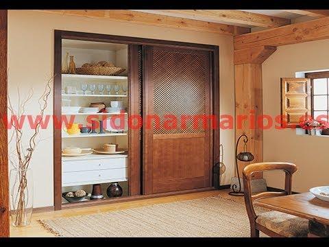 Frente de armario madera mukaly teido en wengu con