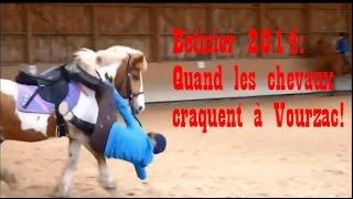 """Bêtisier équestre 2014 """"Quand les chevaux craquent à Vourzac"""""""