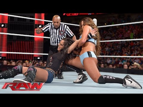 AJ Lee vs. Nikki Bella: Raw, March 16, 2015 thumbnail