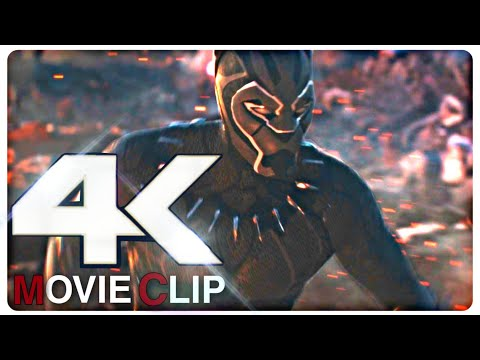 All Black Panther Fight Scenes From Infinity War & Endgame In 4K 60FPS | By Az Gamer |