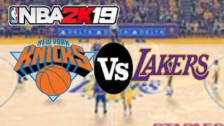 NBA 2K19 Roster (PC) | Knicks vs Lakers (2k18) | 4K 60fps!