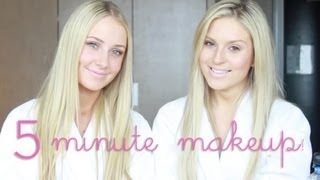 5 Minute Makeup Challenge ♡ ft Lauren Curtis