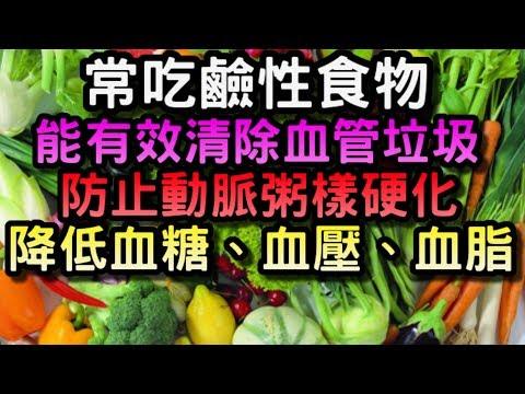 常吃鹼性食物清除血管垃圾,降低血糖、血壓、血脂,防止動脈粥樣硬化!這幾種食物別錯過!