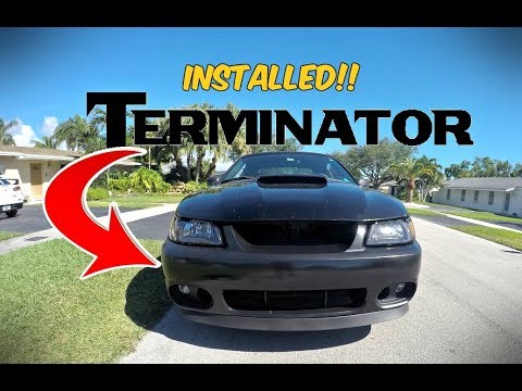 Terminator Cobra Front Bumper Installed On The New Edge Mustang Gt
