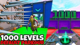 1000 LEVELS DEFAULT PARKOUR! - Fortnite met Vincent