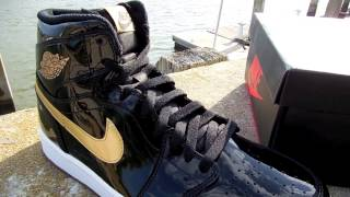 "Nike Air Jordan 1 Retro High OG ""Black/Metallic Gold"" EliteKicks #205"