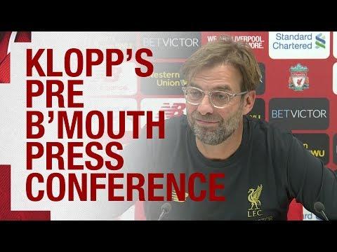 Jürgen Klopp's Pre-match Press Conference   Bournemouth