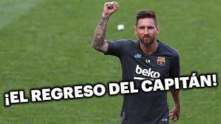 Así fue la llegada de Lionel Messi al entrenamiento del Barcelona 💪🙌