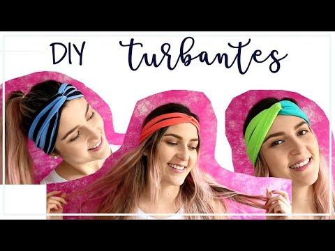 DIY | Cómo hacer turbantes / Diadema / Tendencia 2018