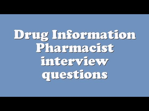 drug information pharmacist interview questions youtube - Drug Information Pharmacist
