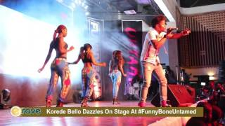 Korede Bello Dazzles On Stage At FunnyBoneUntamed
