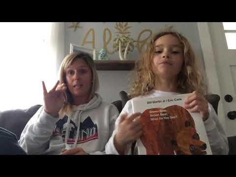 Brown Bear Brown Bear What Do You See- Sign Language