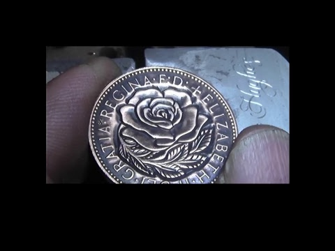 Hand engraving Carving a Rose