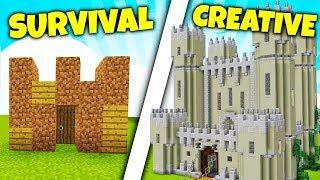 ZAMEK SURVIVAL vs ZAMEK CREATIVE! - Który wygra?