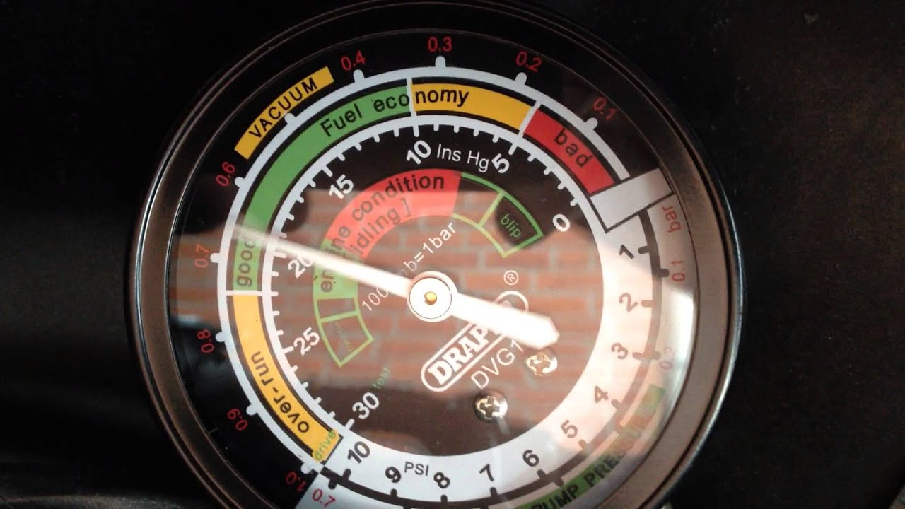 1958 Cadillac Vacuum Gauge Reading
