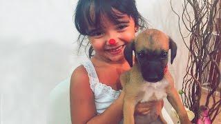 Bia Lobo Com a Filhotinha Isa Adotada ADOPTED PUPPY