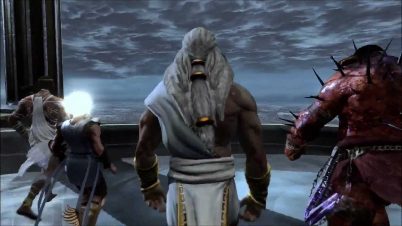 god of war 3 epic gameplay kratos vs poseidon full fight