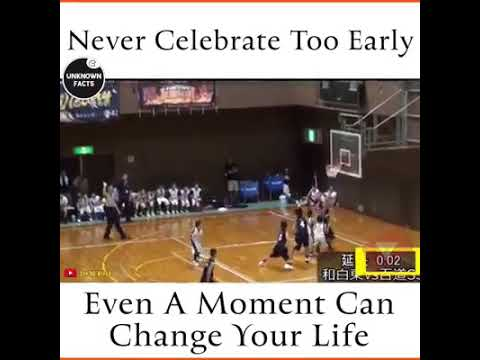 Never celebrate too early even a moment can change your life | a moment can change your life