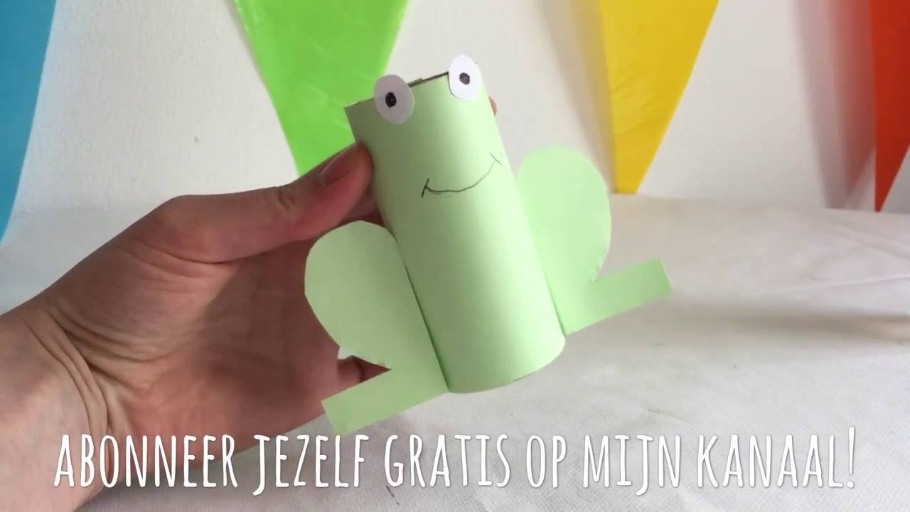 Knutselen Met Peuters Diy Frog Craft With Toilet Paper Roll And Paper Craft For Kids